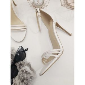 Lulu's Shoes - Lulu's White Ankle Strap Sandals 🎀